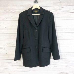 Brooks Brothers Black Wool/Cashmere Jacket Sz 12